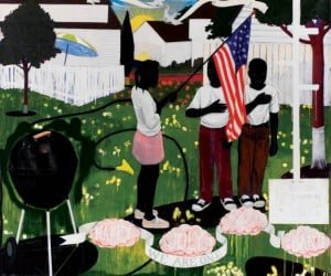 3681-006.jpg Kerry James Marshall Bang, 1994 acrylic and collage on canvas overall: 261.62 x 289.56 cm (103 x 114 in.) Courtesy of The Progressive Corporation, Mayfield Village, Ohio