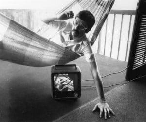 1977-Juan_on_hammock_with_tv_below_PhotoScan--Venezuela_LR